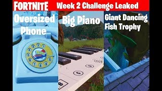 Fortnite ¦ Visit Oversized Phone, Big Piano and Giant Dancing Fish Trophy Challenge Locations