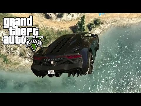 LONGEST RIVER JUMP! (GTA5 Funny Moments)