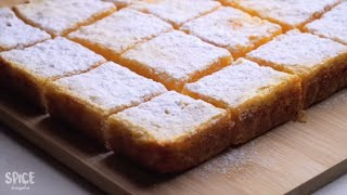 Perfect Lemon Bars | Easy Lemon Bars Recipe By Spice Bangla