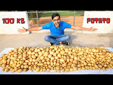 , title : 'Making Magical Oobleck From 100 Kg Potatoes | Awesome Experiment