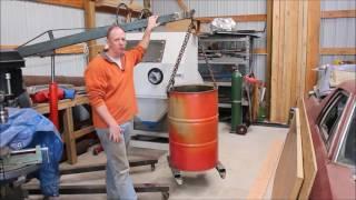 Using a 55 gallon drum for a scrap metal barrel