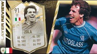 CHEAT CODE! 🤩 91 PRIME ICON MOMENTS ZOLA REVIEW! FIFA 21 Ultimate Team