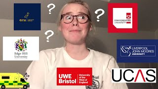 applying for a paramedic degree in the uk (my experience)