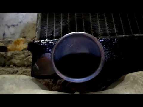 Кия Спортейдж 1993 года.  Ремонт радиатора.
