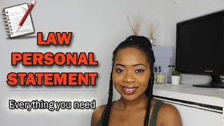 How To: The PERFECT Law Personal Statement   Tips and REAL Examples!