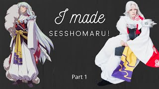 Sesshomaru Cosplay: Part 1, Time-lapse, Kimono, Hakama Pants And Belt Tutorial