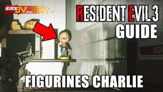 RESIDENT EVIL 3 - EMPLACEMENT DE TOUTES LES FIGURINES CHARLIE (Où Est Charlie) GUIDE COLLECTIBLES