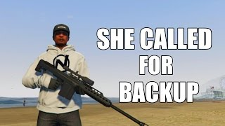 She Called Her Boyfriend To Help Her But He Ran GTA 5 Online