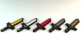cinema 4d minecraft sword rig - Kênh video giải trí dành cho