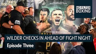Wilder touches down in Belfast to confront Fury | No Filter Boxing, Episode Three - Video Youtube