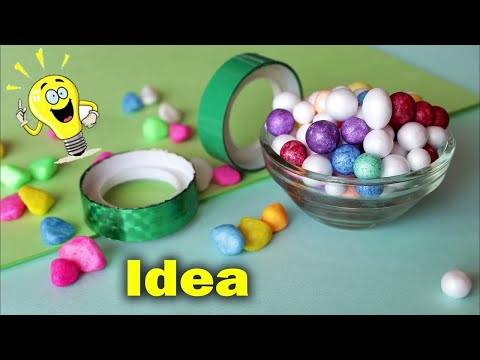 WOW !!! Best Idea out of Thermocol Balls || DIY Room Decoration Idea 2018 || Flower vase Showpiece
