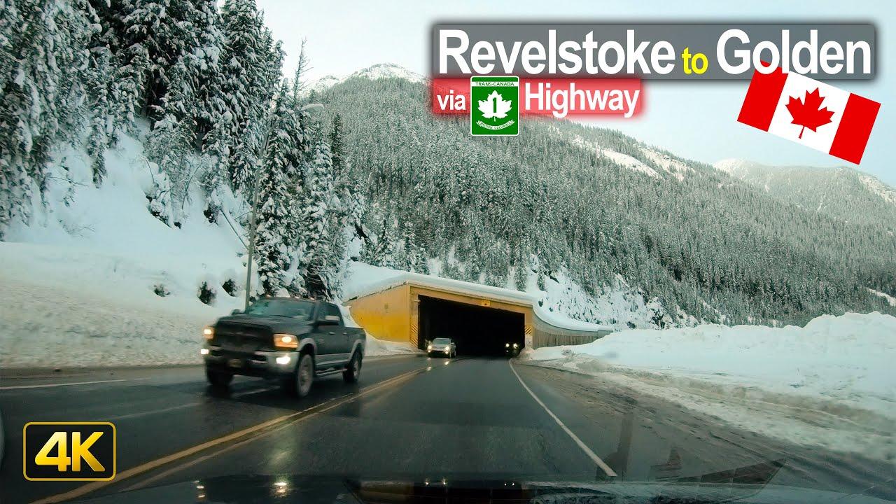 Winter Driving in Canada – Revelstoke to Golden & Crossing 100,000 km in 4K