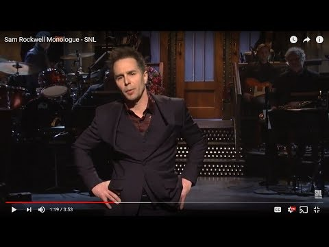 Sam Rockwell hosts SNL (this just premiered on NBC)