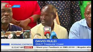 Row between KNUT SG Wilson Sossion and chairmen Muthui Nzili plays out in public
