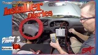 We finish up a 04 Toyota Sequoia JBL factory stereo removal Installer Diaries 184 part 3
