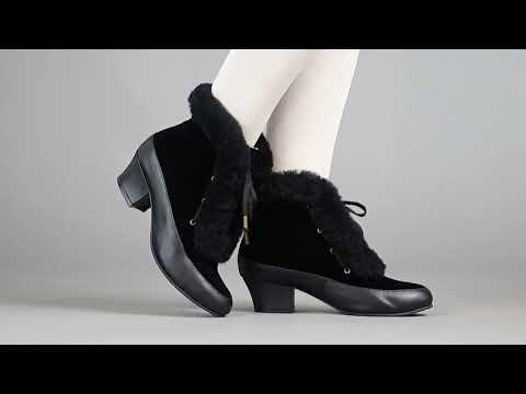 PRE-ORDER Alpen Women's Retro Winter Booties (Black)