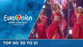 TOP 50: Most watched in 2017: 30 TO 21 - Eurovision Song Contest