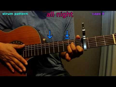 All night beyonce guitar chords