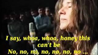 Janis Joplin ball and chain lyrics on screen