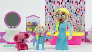 ребенок Эльзы ленится чистить зубы поэтому болят зубы !!!  Мультфильм из пластилина
