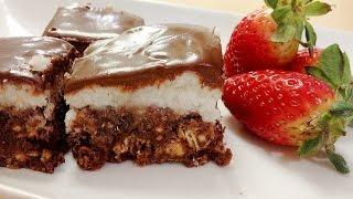 מתכון לריבועי קוקוס ושוקולד