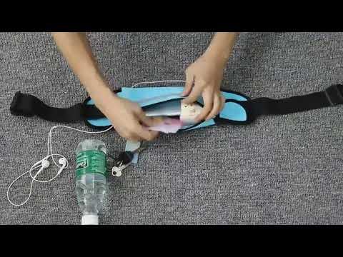 Поясная сумка для телефона водоотталкивающая спортивная SlimLine Bag розовая (SB-20145) Video #1