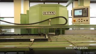 Der Produktionsbetrieb der Firma OKNO-POL. Fenster Produktionsprozess.