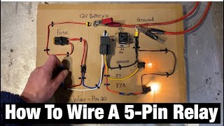 How to Wire a 5 Pin Automotive Relay. Pins 87/30/85/86/87a . Bosch Style. Fans / Fuel Pump / Lights