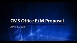 CMS Panel Discussion on E/M Coding Reform