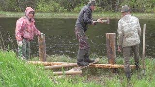 Мостик на речке для рыбалки своими руками