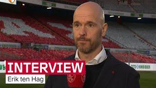 Ten Hag: 'We duwen ons plafond steeds verder omhoog'   Reactie na Bekerfinale ?