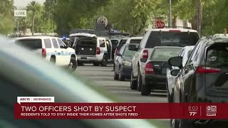 Two officers shot in Chandler Monday