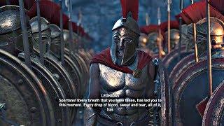 Assassin's Creed Odyssey - All Leonidas & 300 Spartans Cutscenes (PS4 Pro)