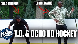 Chad Johnson and Terrell Owens Learn How To Play Hockey w/ Olly From @On the bench