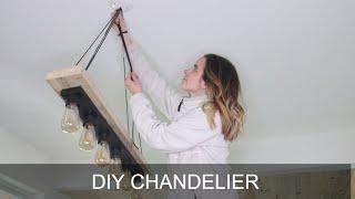 DIY Chandelier | Modern Dining Room Hanging Light