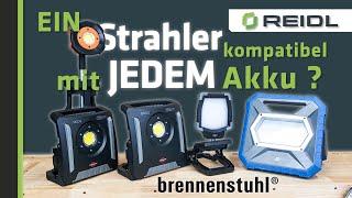 Brennenstuhl LED-Baustrahler - Multi Battery 18V System - Ein Strahler, unzählige Akkus [German]