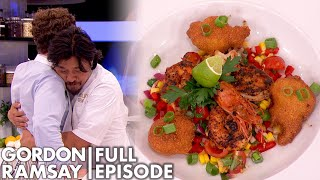 Professional Chef Hugs Contestant After Tasting His Shrimp Dish