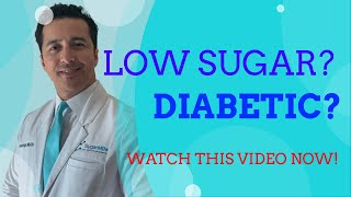 LOW blood SUGAR in Diabetics (hypoglycemia). Everything you NEED to know!