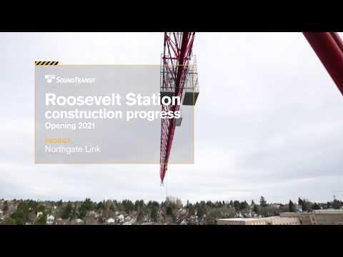 Seattle, WA: Roosevelt Light Rail Station Construction