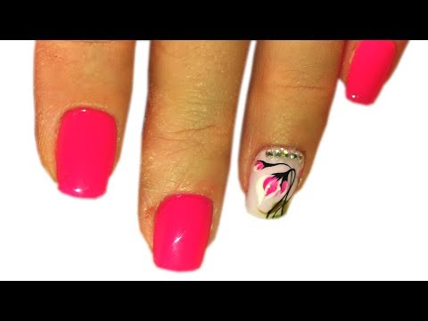 New Nail Art 2017  The Best Nail Art Designs Compilation June 2017 Small flowers from crystals