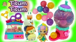 Disney Tsum Tsum Tsweet Boutique With Claw Game + Gumball Machine + Shopkins Surprise Blind Bags