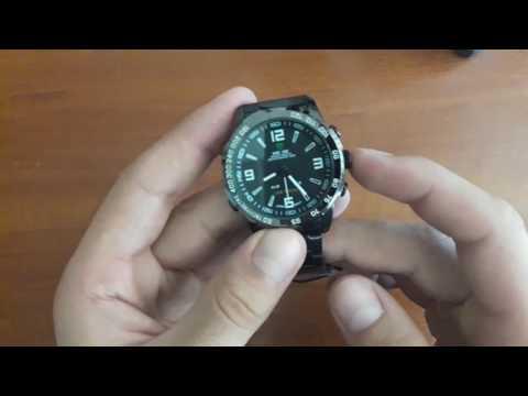 Обзор и Настройка. Мужские часы Weide 1009 Standart Silver на браслете