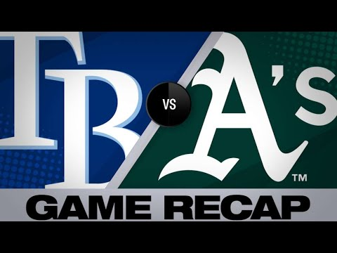 Chapman leads A's to 4-2 win over the Rays | Rays-Athletics Game Highlights 6/22/19