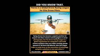 There is aglobal drone racing league for elite drone pilot. #shorts #trending #education @teshfact_Z