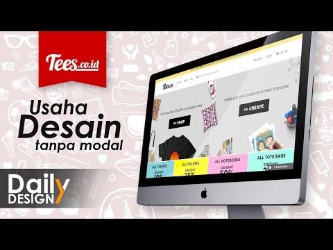 Video Usaha Desain tanpa modal - Tees.co.id  (DAILY DESIGN 03)