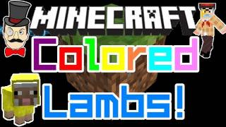 Minecraft 1.0 BABY SHEEP COLORS ! Dye Sheep , Breed Colored Lambs !