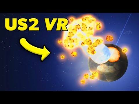 I THREW THE MOON SO HARD EARTH EXPLODED in Universe Sandbox 2 VR