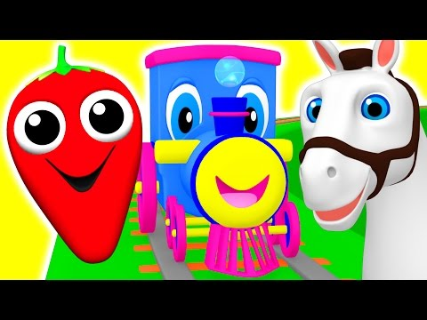 Learning Train   Preschool Educational Videos   Learn Colors, Fruits Animals ABC Songs BusyBeavers