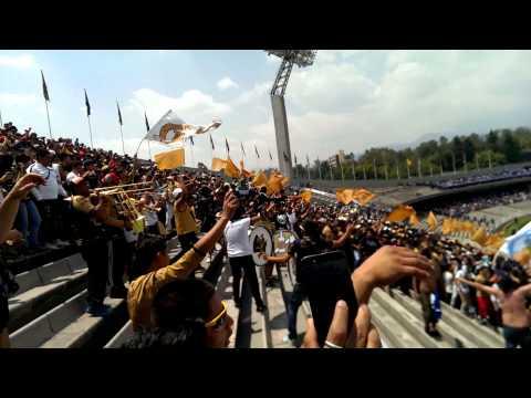 """Entrada de la Rebel,  PUMAS vs cruz azul, j16 2015"" Barra: La Rebel • Club: Pumas"