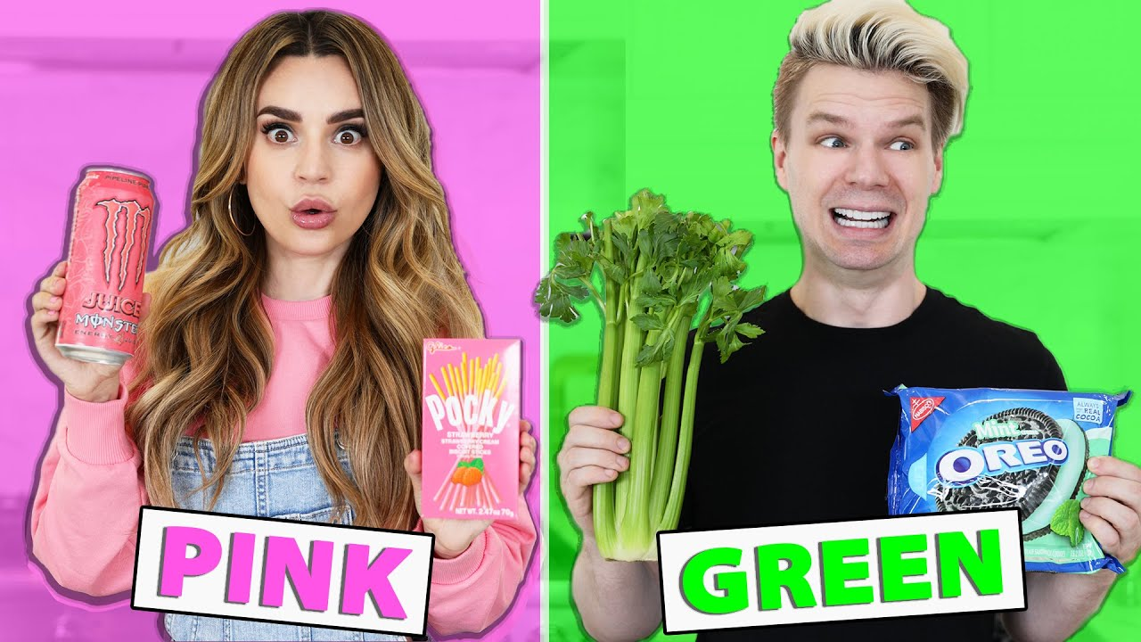 Eating Only ONE Color of Food for 24 Hours!!! Rainbow Food Challenge thumbnail